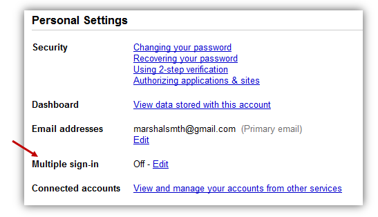 Gmail Multiple Login