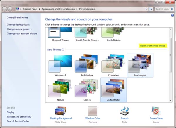 Personalize Windows