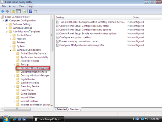 Use Bitlocker Without TPM