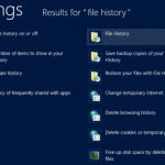 File History Feature Windows 8