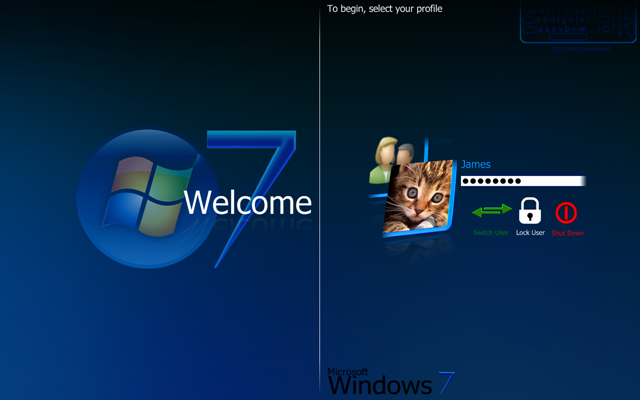 Custom Logon Screen Windows 7