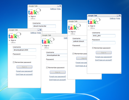 Run Multiple Instances of Google Talk