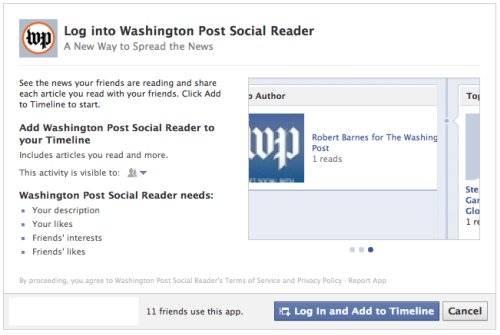 ByPass Facebok Social Reader Applications