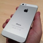 iPhone 5 white rear view