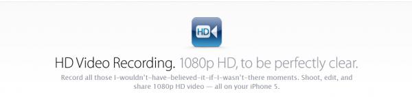 iphone 5 hd video recording
