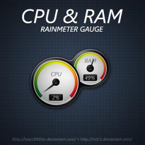 CPU-N-RAM-Gauge-Windows-7-Rainmeter-Skin