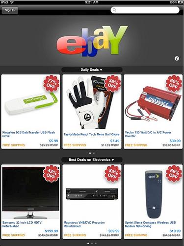 eBay for iPad 1