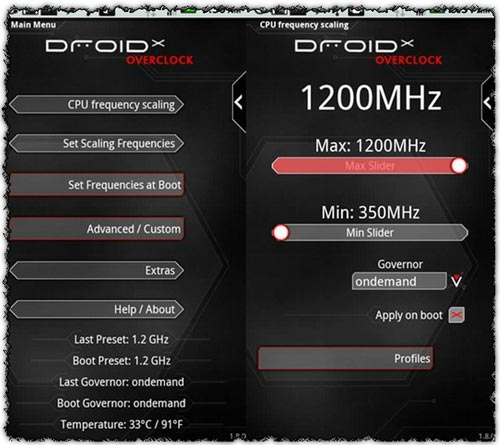 5Droid Overclock 2.1.2 How To Overclock Your Android Device