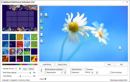Windows 8 Start Screen Customizer1 How To Customize Windows 8 Start Screen Wallpaper, Tiles And Animations