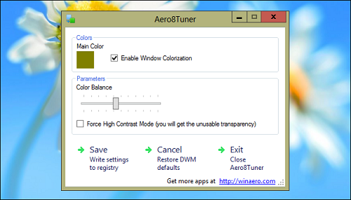 aero8tuner How To Enable The Aero Glass Transparency In Windows 8