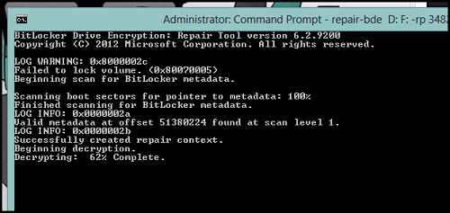 command prompt How To Recover Your Bitlocker Encrypted Drive If You Have Forgotten Your Password