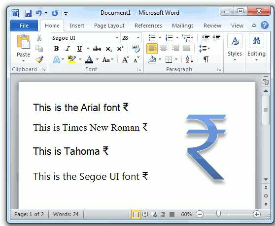 How To Type The New Indian Rupee Symbol In Ms Word Pindigit