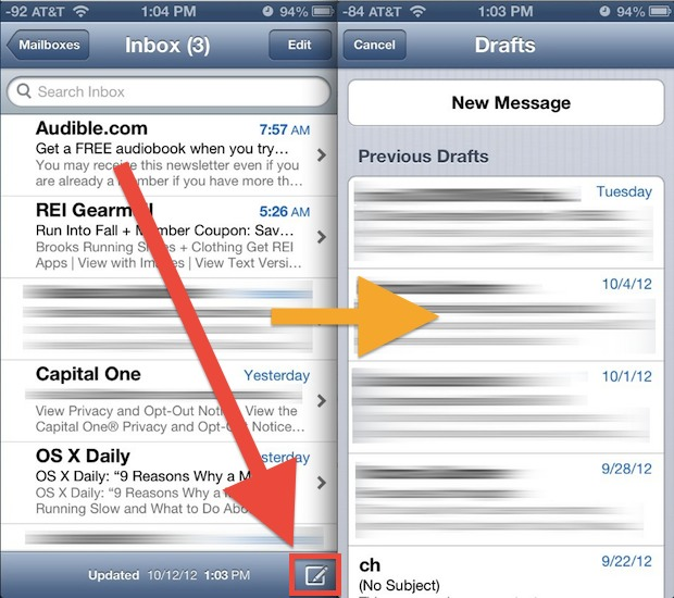 open-drafts-folder-iphone