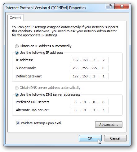 static ip 2 How To Assign A Static IP Address On A Windows 7 Machine