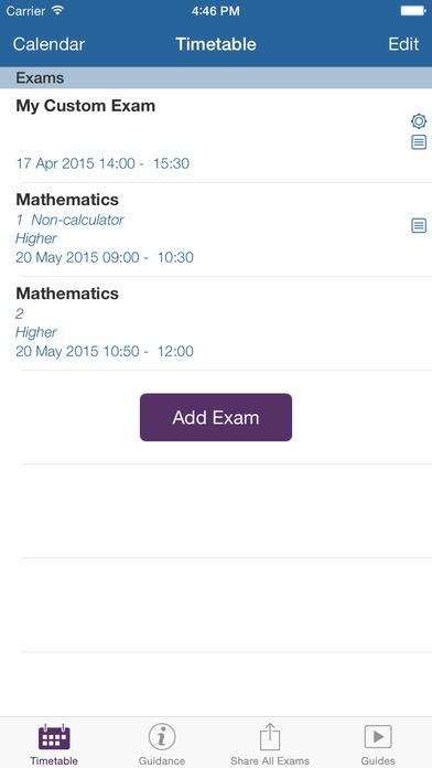 my exams app